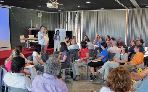 Jornada formativa realizada en el PRAE de Valladolid (21/07/2014) dirigida a los monitores de las distintas instalaciones de uso público de Castilla y León.